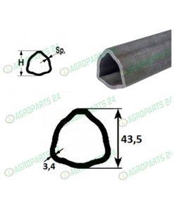 Profilrohr Gelenkwelle Walterscheid 43,5 x 3,4mm