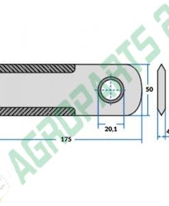 Schlegelmesser, StrohhäckslermesserNew Holland, Case IH - 1994760C4 2