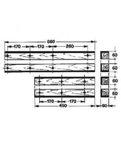 AP12K  1103.16.02.01 Welger Führungsholz Kolbenführungs Holz Set  AP 12